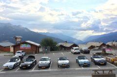 Met de XKR + BMW roadsters's naar de Franse alpen  (2016)